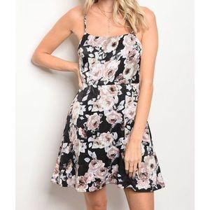 New black floral dress